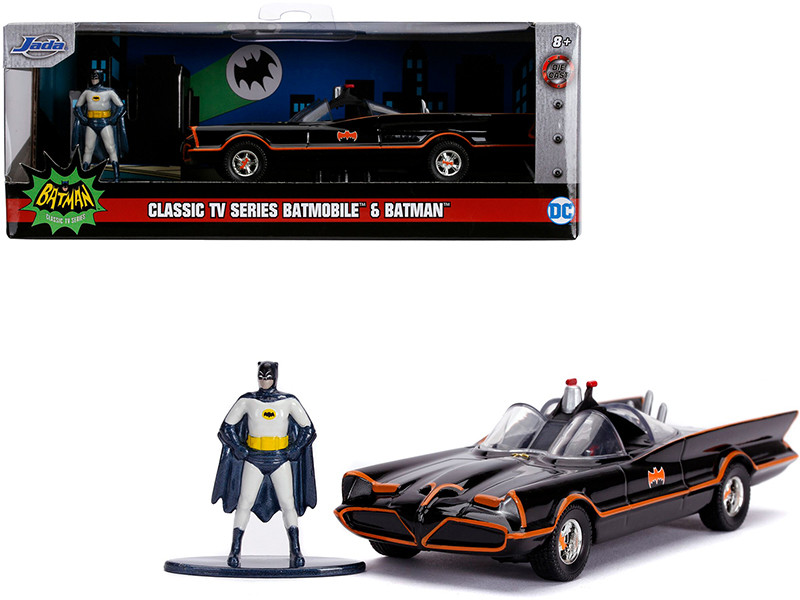 1966 Batmobile Diecast Batman Figurine Batman 1966 1968 Classic TV Series DC Comics Hollywood Rides Series 1/32 Diecast Model Car Jada 31703
