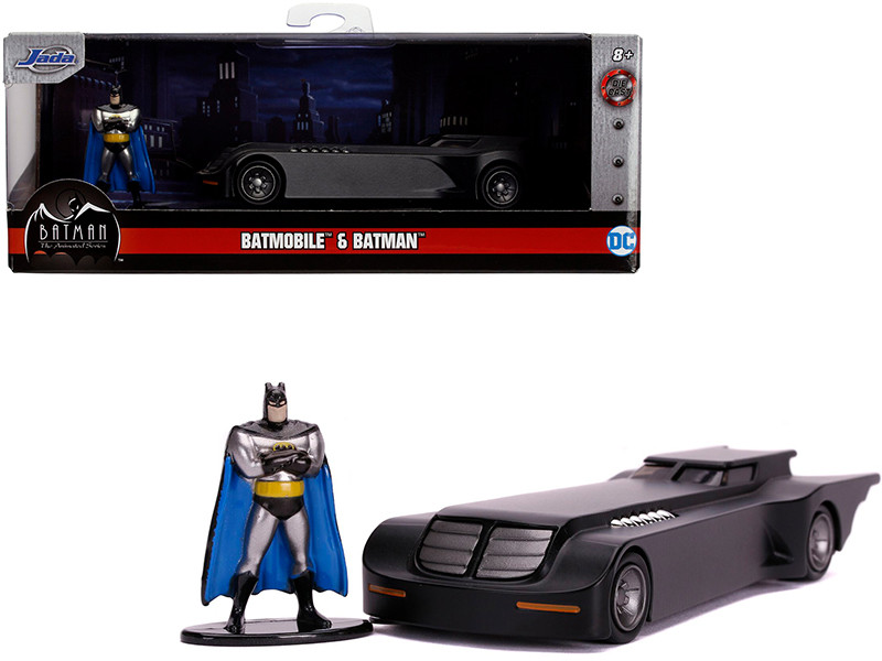 Batmobile Diecast Batman Figurine Batman The Animated Series 1992 1995 TV Series DC Comics Hollywood Rides Series 1/32 Diecast Model Car Jada 31705