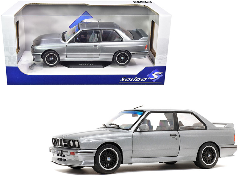 1990 BMW E30 M3 Silver Metallic 1/18 Diecast Model Car Solido S1801506