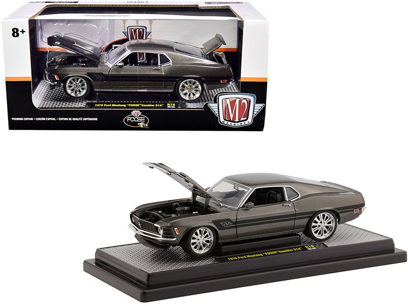 1970 Ford Mustang Foose Gambler 514 Jaguar British Racing Green Metallic Black Stripes Limited Edition 6880 pieces Worldwide 1/24 Diecast Model Car M2 Machines 40300-78 B