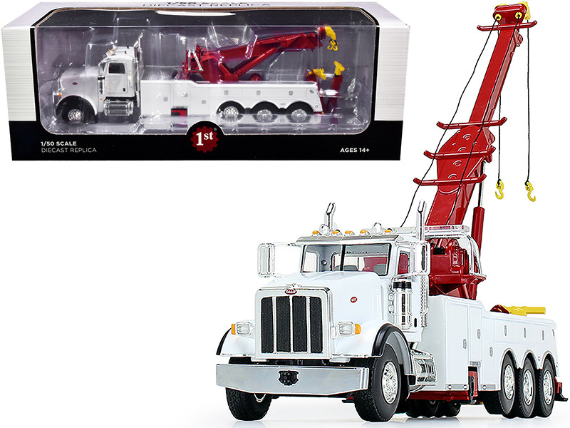 Peterbilt 367 Century 1060S Wrecker Tow Truck White 1/50 Diecast Model First Gear 50-3440