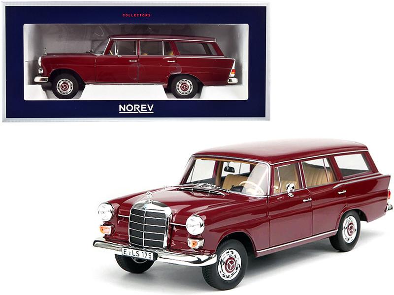 1966 Mercedes Benz 200 Universal Dark Red 1/18 Diecast Model Car Norev 183576