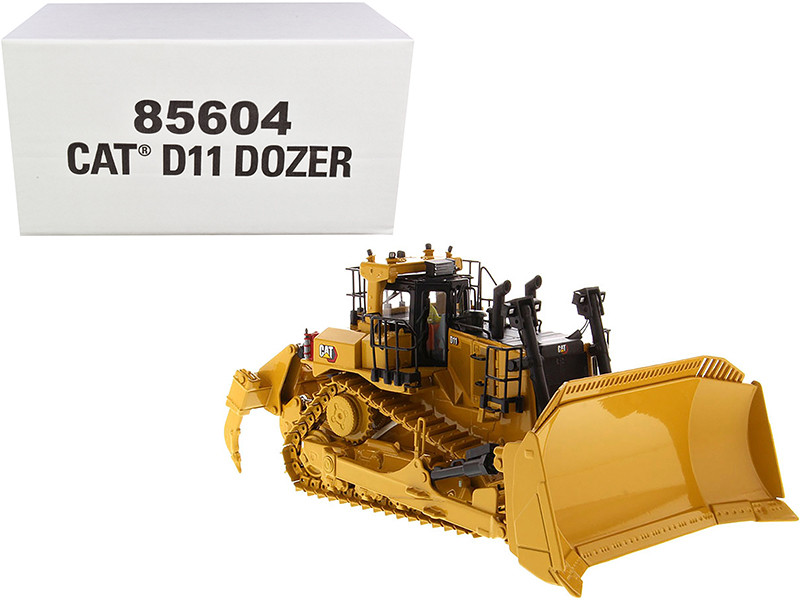 CAT Caterpillar D11 Fusion Track-Type Tractor Dozer  Operator High Line Series 1/50 Diecast Model Diecast Masters 85604