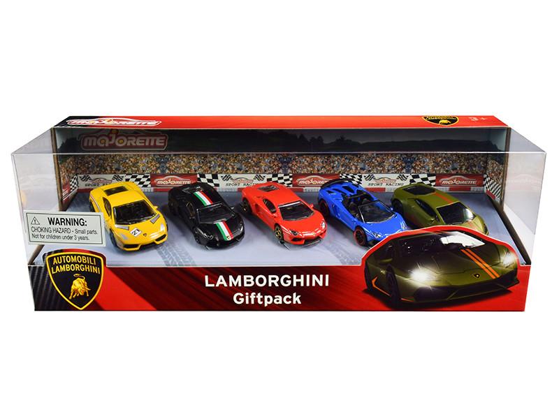 Lamborghini Giftpack 5 piece Set 1/64 Diecast Model Cars Majorette 212053162