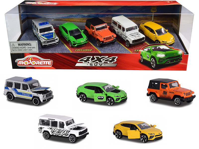4x4 SUV Giftpack 5 piece Set 1/64 Diecast Model Cars Majorette 212053169