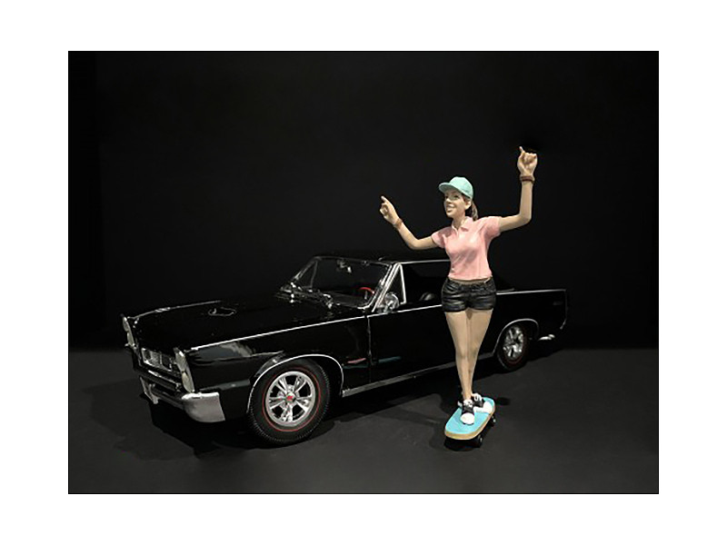 Skateboarder Figurine IV for 1/18 Scale Models American Diorama 38243