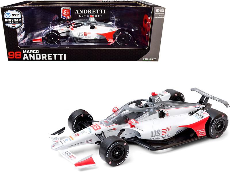 Dallara IndyCar #98 Marco Andretti U.S. Concrete Andretti Herta Autosport NTT IndyCar Series 2020 1/18 Diecast Model Car Greenlight 11082