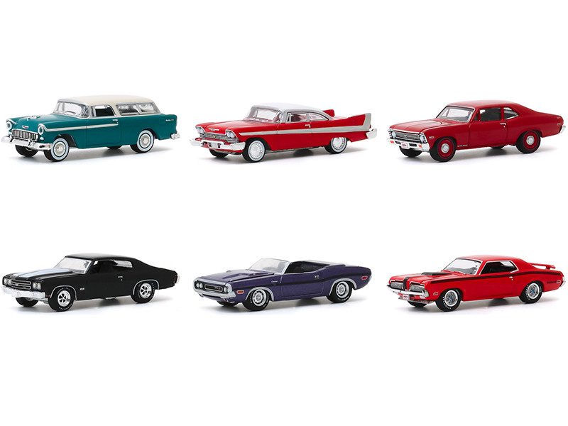 Barrett Jackson Scottsdale Edition Set of 6 Cars Series 5 1/64 Diecast Model Cars Greenlight 37200