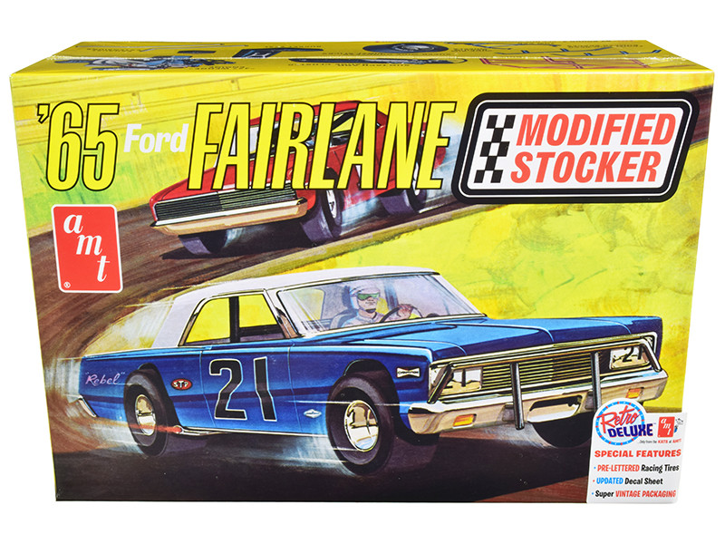 Skill 2 Model Kit 1965 Ford Fairlane Modified Stocker 1/25 Scale Model AMT AMT1190