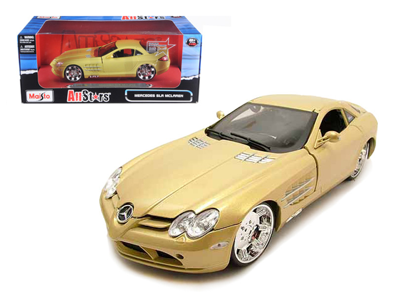 "Mercedes Mclaren SLR Gold ""All Stars"" 1/18 Diecast Model Car Maisto 31068"