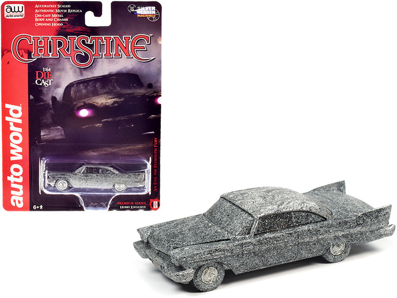 1958 Plymouth Fury An Evil After Fire Version Christine 1983 Movie 1/64 Diecast Model Car Autoworld AWSP040