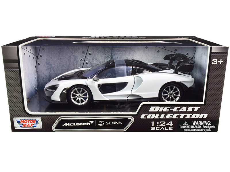 McLaren Senna White Black 1/24 Diecast Model Car Motormax 79355