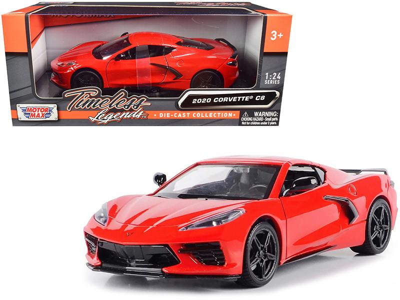 2020 Chevrolet Corvette C8 Stingray Red Timeless Legends 1/24 Diecast Model Car Motormax 79360