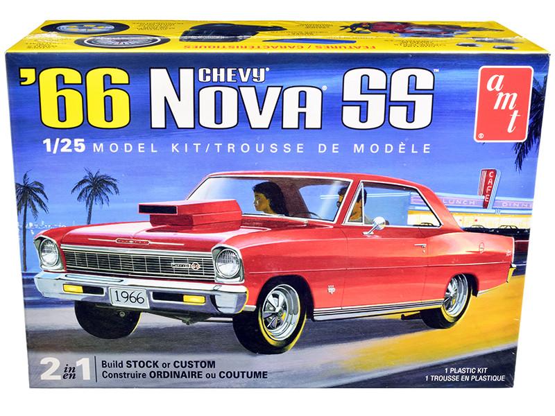 Skill 2 Model Kit 1966 Chevrolet Nova SS 2 in 1 Kit 1/25 Scale Model AMT AMT1198 M