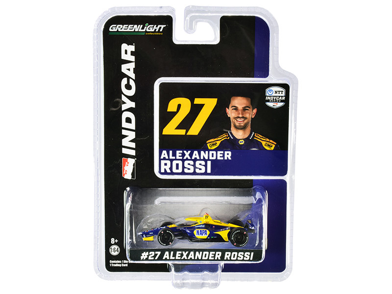 Dallara IndyCar #27 Alexander Rossi NAPA Auto Parts Andretti Autosport NTT IndyCar Series 2020 1/64 Diecast Model Car Greenlight 10863
