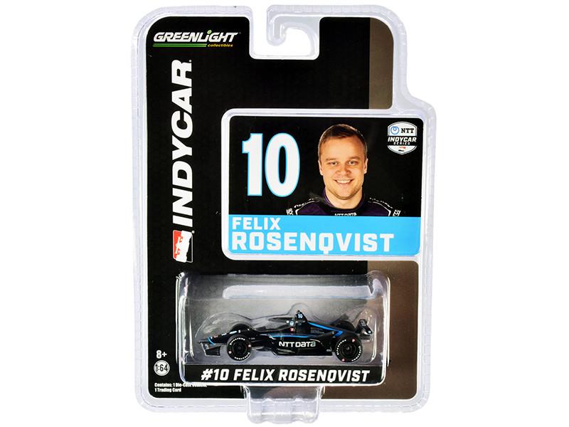 Dallara IndyCar #10 Felix Rosenqvist NTT Data Chip Ganassi Racing NTT IndyCar Series 2020 1/64 Diecast Model Car Greenlight 10867