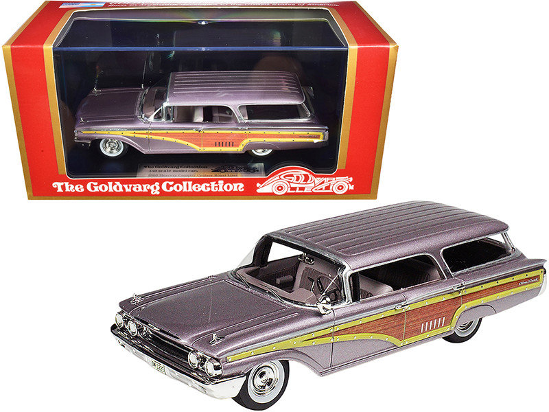 1960 Mercury Country Cruiser Royal Lilac Metallic Limited Edition 215 pieces Worldwide 1/43 Model Car Goldvarg Collection GC-016 B