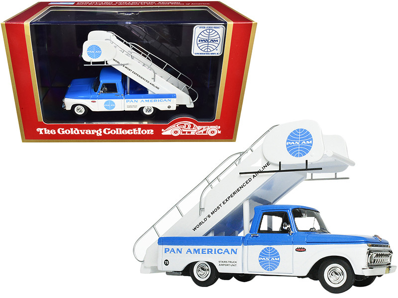 1965 Ford Airport Stairs Truck Pan American PAN AM Blue White Limited Edition 190 pieces Worldwide 1/43 Model Goldvarg Collection GC-PAA-003