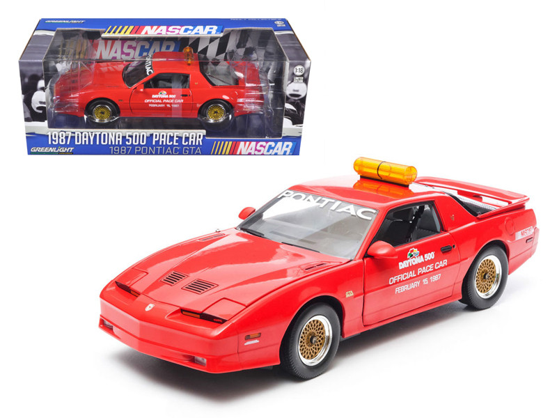 1987 Pontiac Firebird Trans Am GTA Daytona 500 Pace Car Nascar 1/18 Diecast Model Car Greenlight 12858