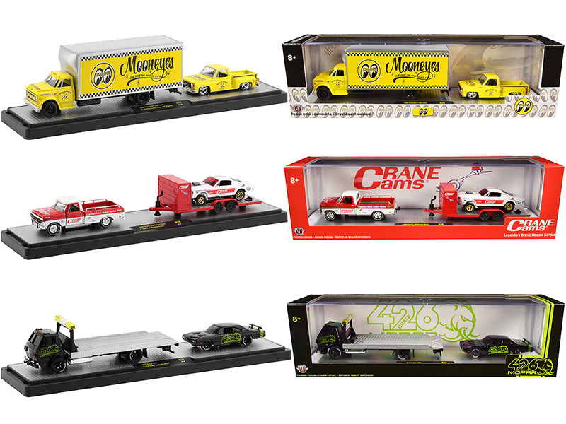 Auto Haulers Set of 3 Trucks Release 38 Limited Edition 5880 pieces Worldwide 1/64 Diecast Models M2 Machines 36000-38