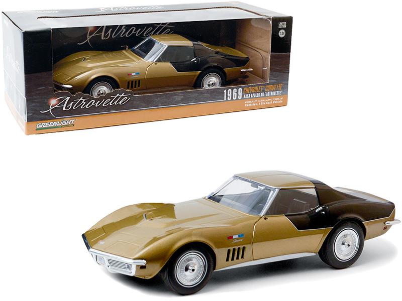 1969 Chevrolet Corvette Gold AstroVette NASA Apollo XII Astronaut's 1/24 Diecast Model Car Greenlight 18254