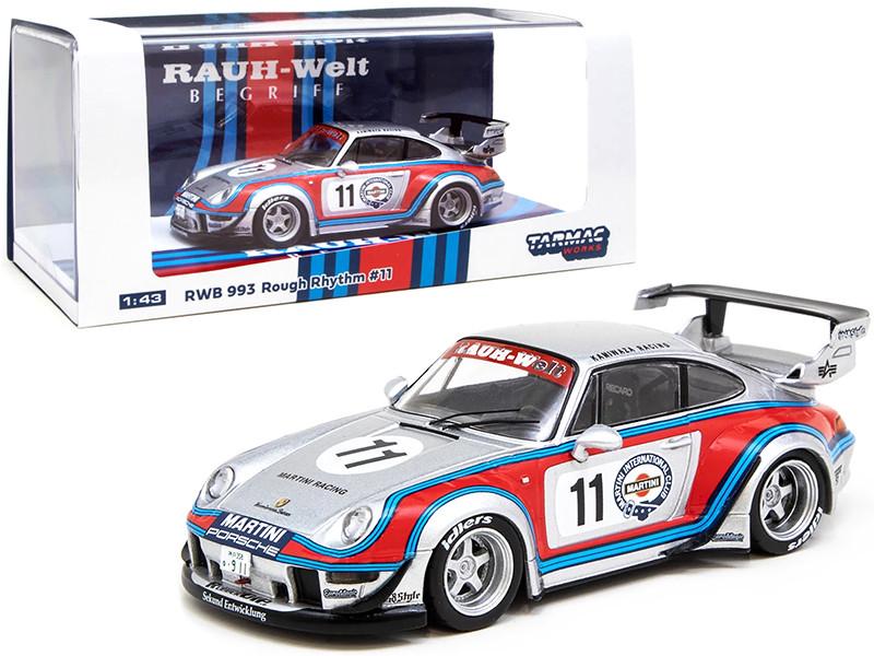 Porsche RWB 993 #11 Rough Rhythm Martini International Club Kamiwaza Racing WebStore Special Edition RAUH-Welt BEGRIFF 1/43 Diecast Model Car Tarmac Works T43-014-MA