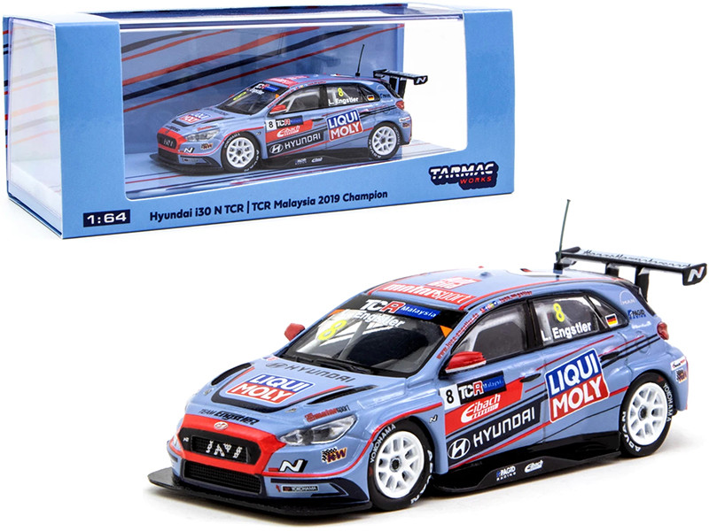 Hyundai i30 N TCR #8 Luca Engstler Champion TCR Malaysia 2019 1/64 Diecast Model Car Tarmac Works T64-031-19TCRM08