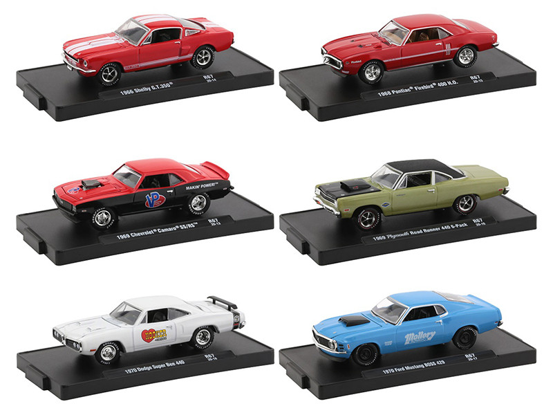 Drivers Set of 6 pieces Blister Packs Release 67 Limited Edition 6000 pieces Worldwide 1/64 Diecast Model Cars M2 Machines 11228-67
