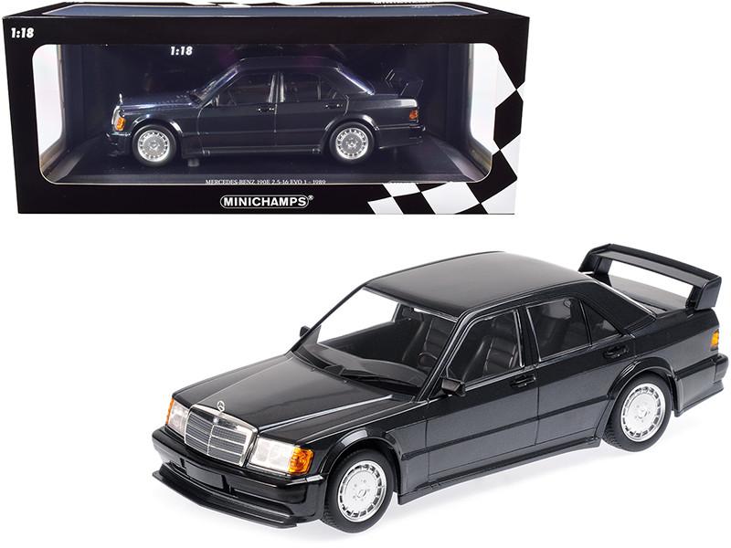 1989 Mercedes Benz 190E 2.5-16 EVO 1 Blue-Black Metallic Limited Edition 1002 pieces Worldwide 1/18 Diecast Model Car Minichamps 155036000