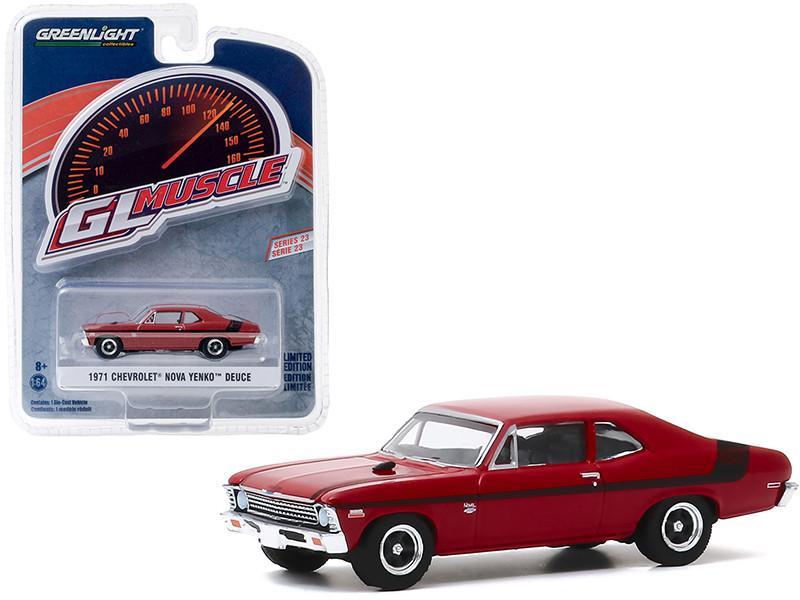 1971 Chevrolet Nova Yenko Deuce Greenlight Muscle Series 23 1/64 Diecast Model Car Greenlight 13270 E