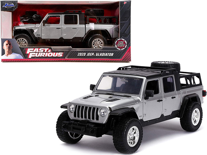 2020 Jeep Gladiator Pickup Truck Silver Black Top Fast & Furious Series 1/24 Diecast Model Car Jada 31984