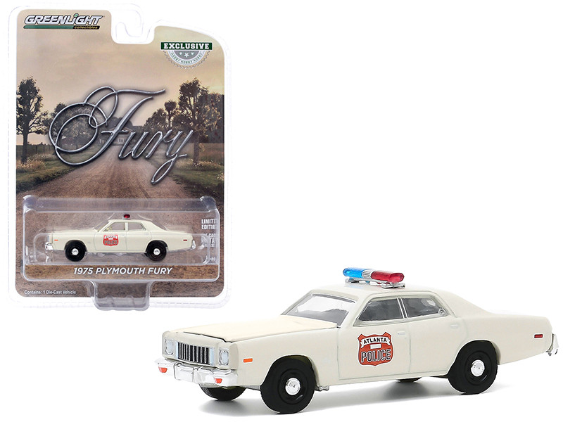 1975 Plymouth Fury Cream Atlanta Police Georgia Hobby Exclusive 1/64 Diecast Model Car Greenlight 30174