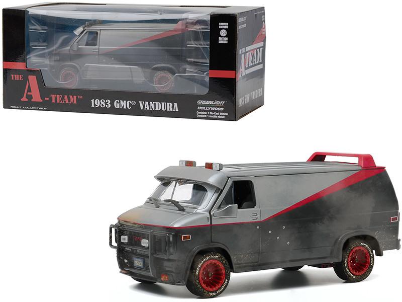 1983 GMC Vandura Van Weathered Version Bullet Holes The A-Team 1983 1987 TV Series 1/24 Diecast Model Greenlight 84112