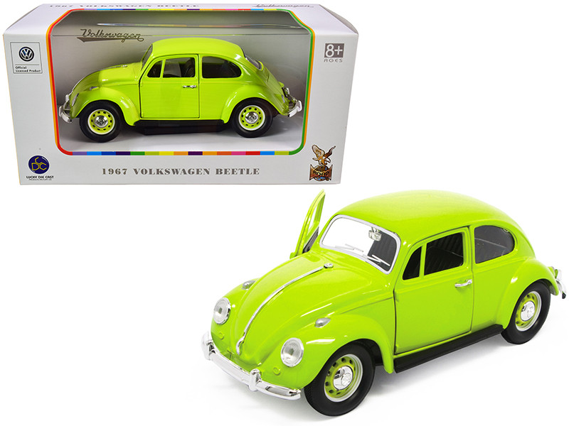 1967 Volkswagen Beetle Light Green 1/24 Diecast Model Car Road Signature 24202
