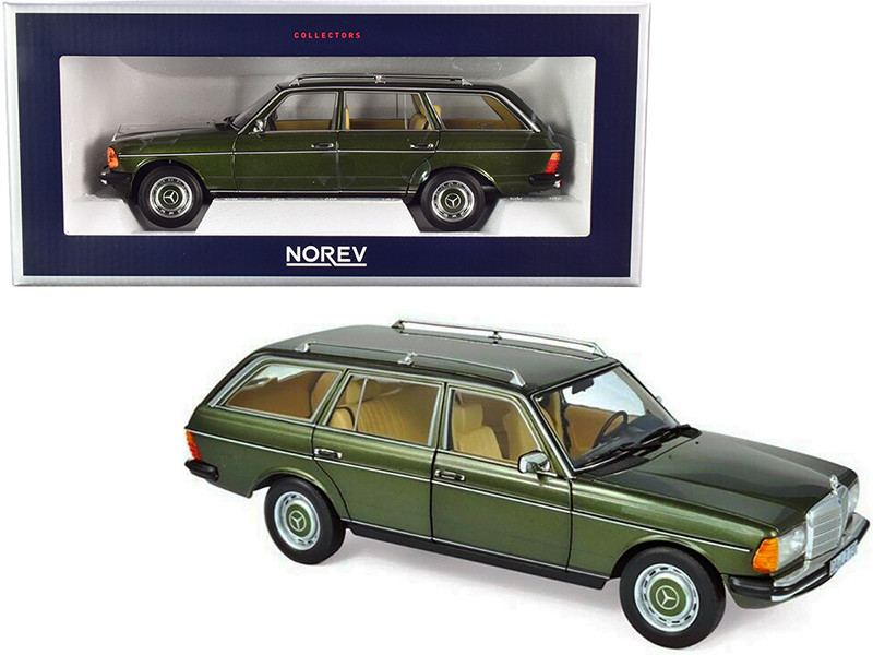 1982 Mercedes Benz 200 T Green Metallic 1/18 Diecast Model Car Norev 183730