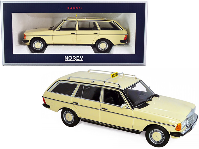 1982 Mercedes Benz 200 T Taxi Yellow 1/18 Diecast Model Car Norev 183731