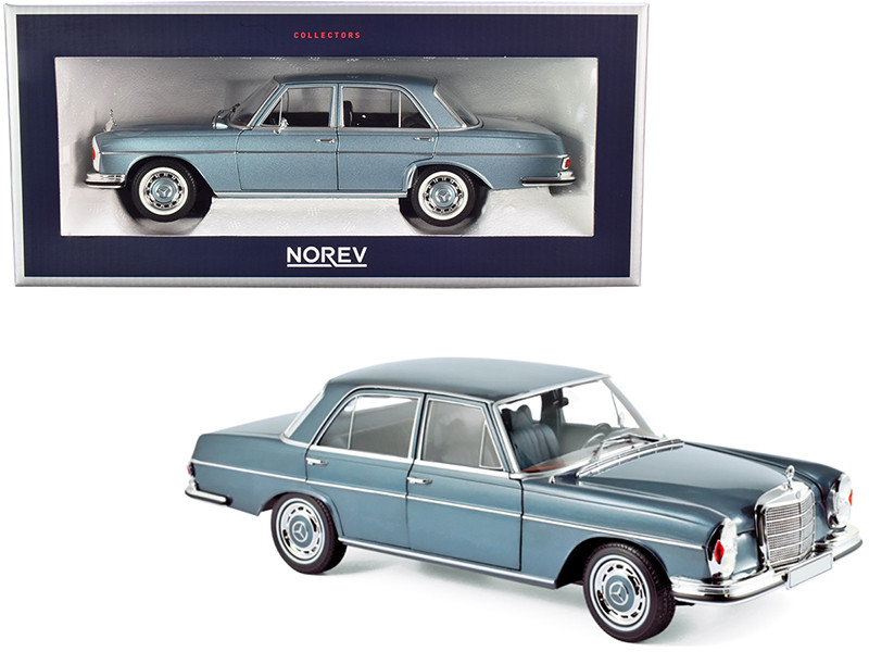 1968 Mercedes Benz 280 SE Light Blue Metallic 1/18 Diecast Model Car Norev 183760
