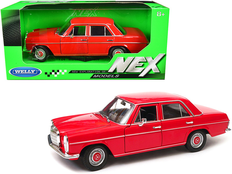Mercedes Benz 220 Red NEX Models 1/24 Diecast Model Car Welly 24091