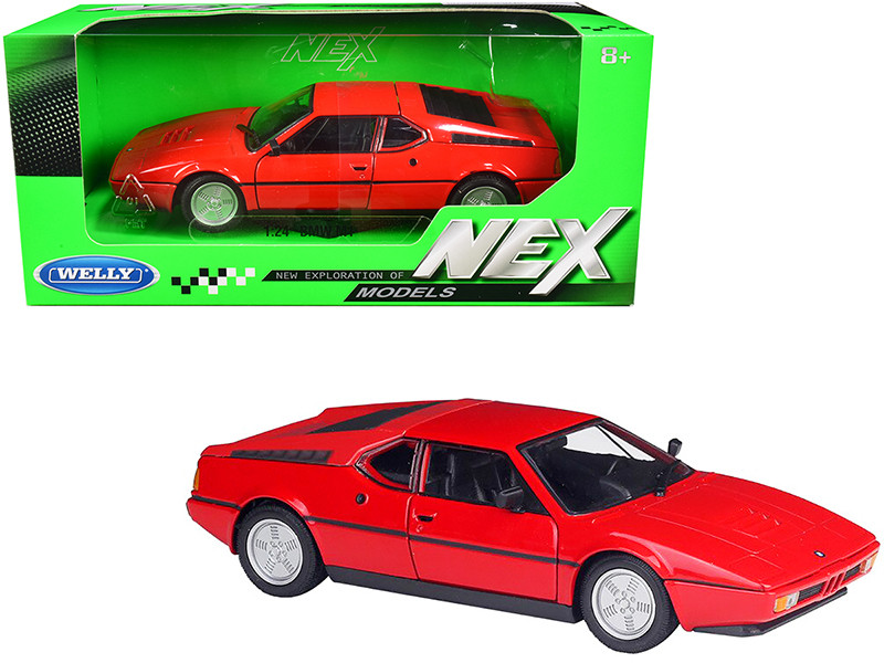BMW M1 Coupe Red NEX Models 1/24 Diecast Model Car Welly 24098