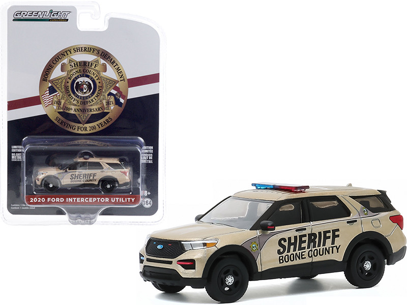 2020 Ford Police Interceptor Utility Boone County Sheriff's Department Missouri 200th Anniversary Anniversary Collection Series 11 1/64 Diecast Model Car Greenlight 28040 E