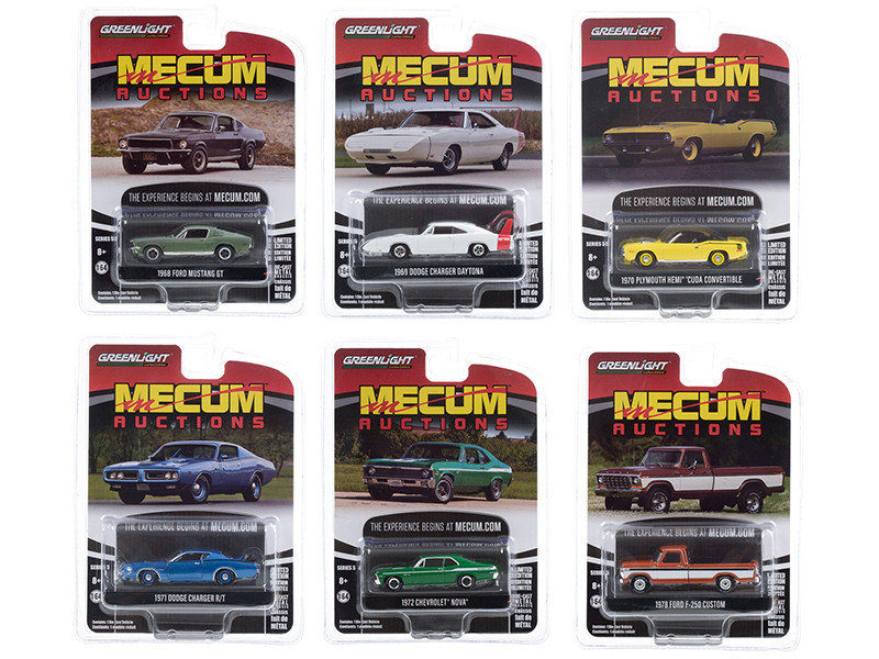 Mecum Auctions Collector Cars Set of 6 pieces Series 5 1/64 Diecast Model Cars Greenlight 37210