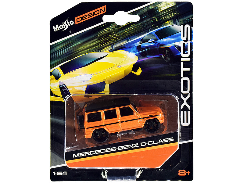 Mercedes Benz G-Class Orange Metallic Black Top Exotics Series 1/64 Diecast Model Car Maisto 15494-20 D