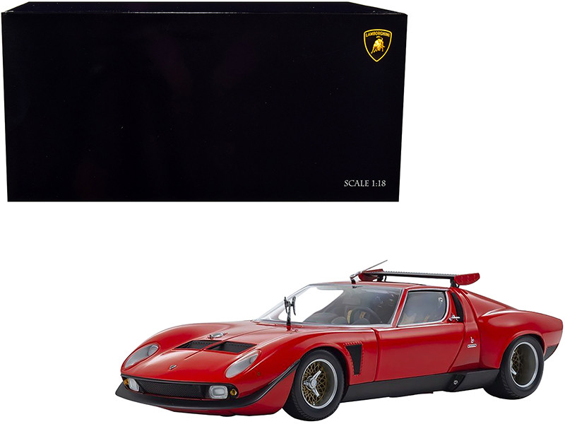 Lamborghini Miura SVR Red Black 1/18 Diecast Model Car Kyosho 08319 R