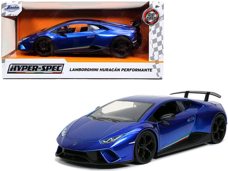 Lamborghini Huracan Perfomante Blue Hyper-Spec 1/24 Diecast Model Car Jada 32256