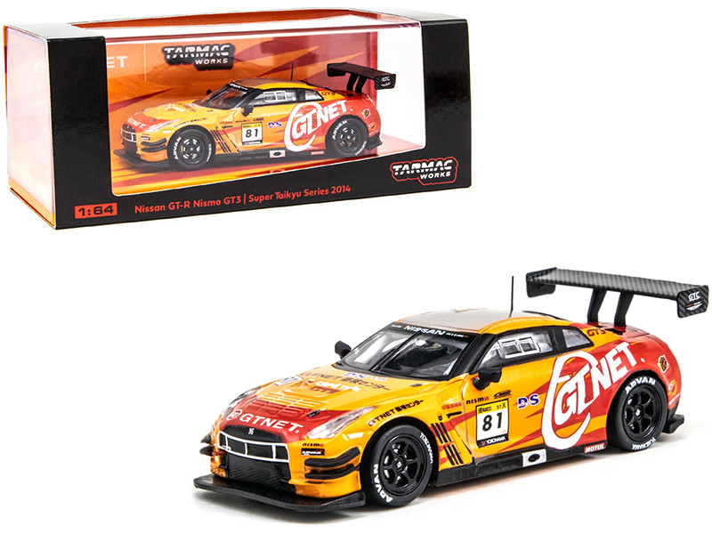 Nissan GT-R Nismo GT3 #81 GTNET Motor Sports Super Taikyu Series 2014 ST-X Class Champion 1/64 Diecast Model Car Tarmac Works T64-005-14ST81