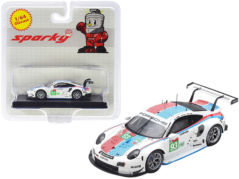 Porsche 911 RSR #93 Porsche GT Team 3rd LMGTE Pro Class 24 Hours of Le Mans 2019 1/64 Diecast Model Car Sparky Y141B