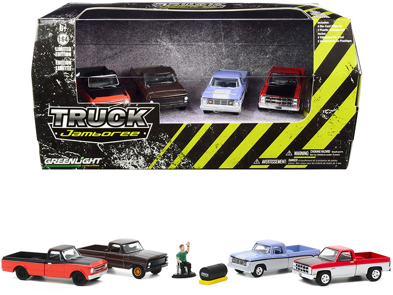 Truck Jamboree Tire Shop 6 piece Diorama Set Figurine Tire Set 1/64 Diecast Model Cars Greenlight 58052