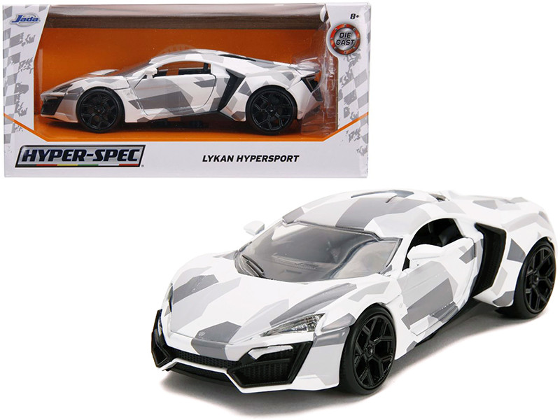 Lykan Hypersport White Camouflage Hyper-Spec 1/24 Diecast Model Car Jada 32273
