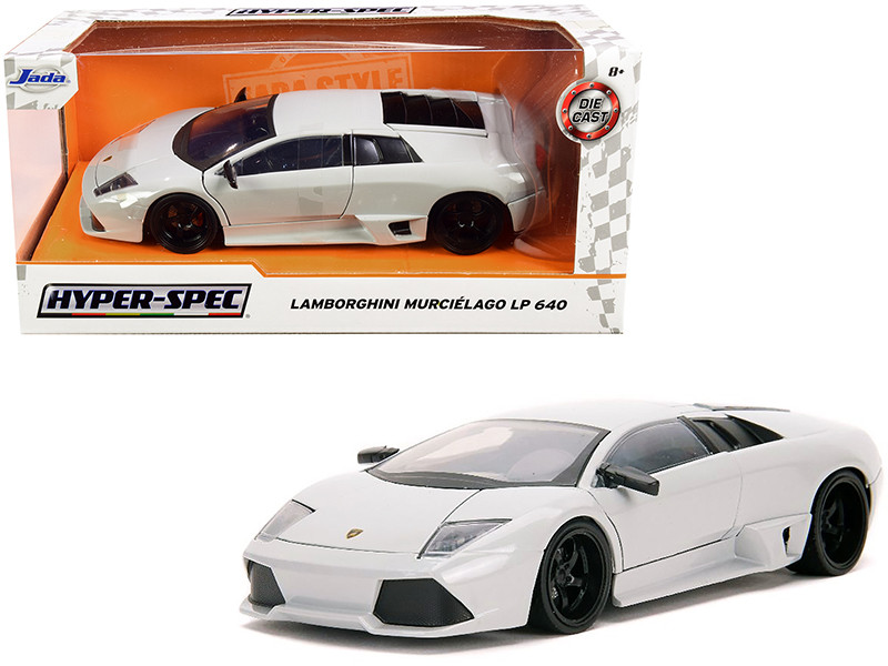 Lamborghini Murcielago LP640 Light Gray Pastel Hyper-Spec 1/24 Diecast Model Car Jada 32274