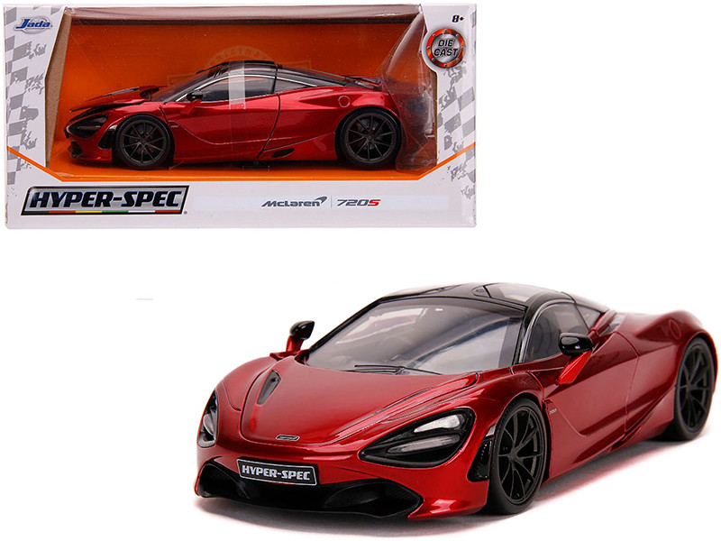 McLaren 720S Candy Red Black Top Hyper-Spec 1/24 Diecast Model Car Jada 32275
